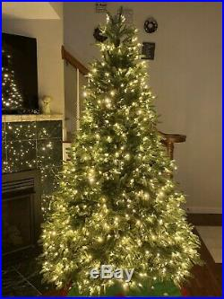 Balsam Hill 7.5 Flip Tree -Most Realistic Balsam Fir 1440 LED Color + Clear