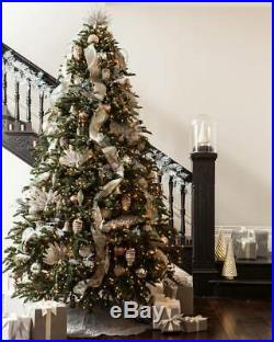 Balsam Hill 7.5′ Noble Fir Christmas Tree with Color + Clear LED