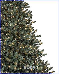 Balsam Hill Classic Blue Spruce Artificial Christmas Tree, 7.5 Feet, Clear light