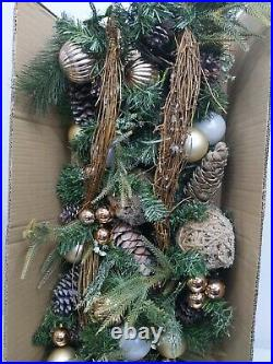 Balsam Hill French Country Garland LED Twigs Pine Cones Ornaments NewithOpen