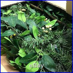 Balsam Hill White Berry Cypress Foliage 2 Pk 10-ft Led
