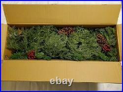Balsam Hill Winter Evergreen Garland 2-Pack