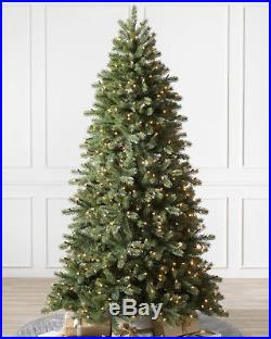 Balsam Hill Woodland Spruce Flip Tree 7′ ft Narrow 46 Clear with Easy Plug New