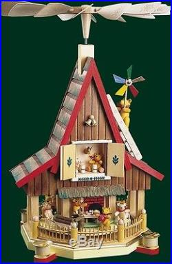 Bärenhaus Weihnachtspyramide Pyramide Seiffen Erzgebirge Weihnachten NEU 09084