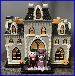 Bath & Body Works Slatkin Vampire Halloween Haunted House Luminary Candle Holder