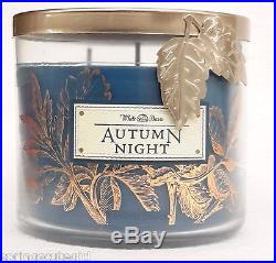 Bath & Body Works White Barn AUTUMN NIGHT 3-Wick 14.5 oz Scented Candle