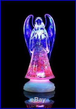 Battery Operated Colour Changing LED Acrylic Angel Christmas Xmas Decoration