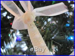 Beach Decor Christmas Seashell and Starfish Ornament Set (5PC) Nautical Xmas