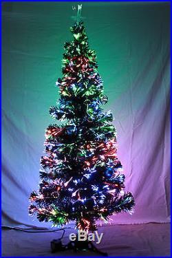 Beautiful FIBER OPTIC Christmas Tree BRAND NEW 5′ and 6′ multicolor options