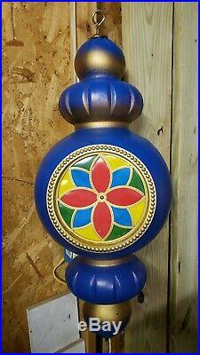 Beco Original Super Rare Blue Blow Mold Giant Christmas Ornament 31 1960′s