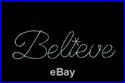 Believe Sign Christmas LED outdoor lawn yard light display metal wireframe