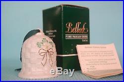 Belleek Shamrock Parian China Kylemore Bell Irish Porcelain Giftware B1834