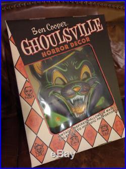 Ben Cooper Ghoulsville Giant Wall Horror Mask Glitter Cat Vintage Halloween