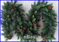 Best Artificial 6ft / 9ft / 12ft Luxury Christmas Garlands Battery LED Lights