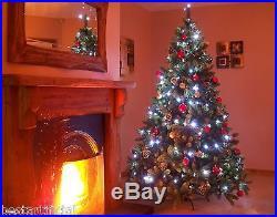 Best Artificial Premium 8ft Hinged Christmas Tree Indoor Realistic 100% PE Tips