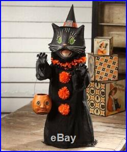 """Bethany Lowe Halloween Scaredy Cat Ghoul Paper Mache Figurine, 28""""H"""