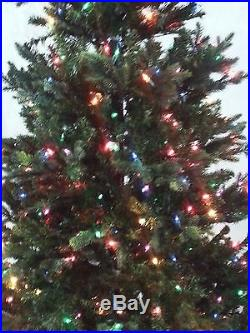 Bethlehem Lights Christmas Tree Noble Fur 6.5′ Prelit Colored Lights FREE Angel