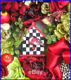Bird House Wreath, Summer Wrath, Bird Wreath, Apple Wreath, Fruit Wreath