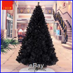 Black Christmas Tree PVC Leaf Based Decorate Ornament 4 ft-10 ft Artificial Tree