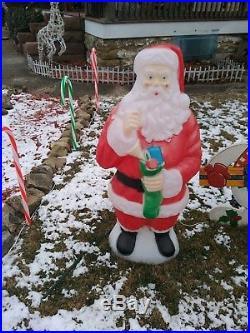 Blow mold outdoor rare vintage MR CLUAS Christmas decoration