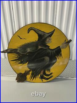 Bonnie Barrett Broomstick Witch Boardwalk Dummy Board Halloween Pumpkin Prop