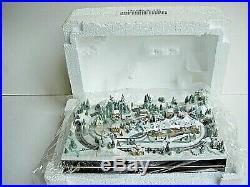 Boxed Unused Condition ` Thomas Kinkade Diorama His Village `christmas Minatures