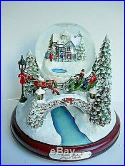 Boxed Unused Condition Thomas Kinkade Illuminated Musical Jingle Bell Snow Globe