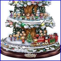 Bradford Exchange A Peanuts Christmas Tabletop Christmas Tree with Lights Sound