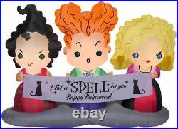 Brand New Disney 4.5 ft. Hocus Pocus Sisters Scene Airblown Halloween Inflatable