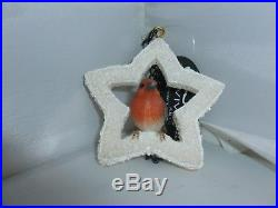 Brand New Hanging Robin Star Small Christmas Garden Ornament