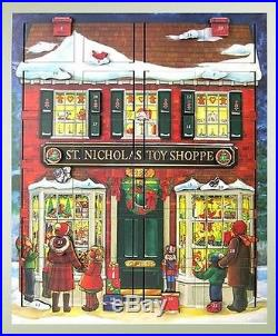 Byers' Choice Musical Wooden Advent Calendar Adventkalender St Nick's Toy Shoppe