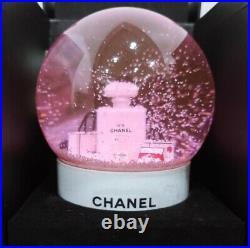 CHANEL 2016 Pink Snow Globe RARE Christmas gift Limited VIP
