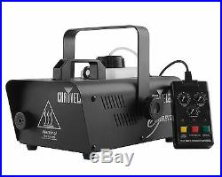 CHAUVET Hurricane H1200 Fog/Smoke Machine + FC-W Wireless Remote + FJU Fog Fluid