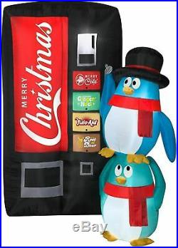 CHRISTMAS 6.5 Ft PENGUIN SODA MACHINE Airblown Inflatable YARD DECORATION