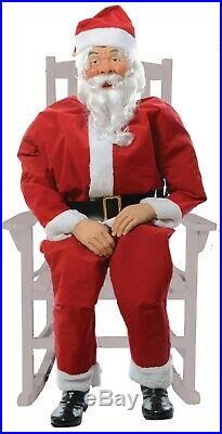 CHRISTMAS ANIMATED LIFE SIZE SANTA INDOOR OUTDOOR PORCH DECORATION With SENSOR PAD