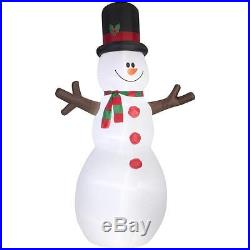 CHRISTMAS Airblown INFLATABLE 12' Giant Santa Claus and 12' Snowman by Gemmy