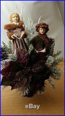 CHRISTMAS HOLIDAY JEWLFLOWER CAROLERS W LIGHTING TREE CENTERPIECE DECOR