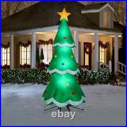 CHRISTMAS SANTA 10 FT ANIMATED ROTATING TREE Airblown Inflatable yard decoration