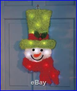 COLOR CHANGING SNOWMAN WALL DOOR WINDOW CHRISTMAS HOLIDAY OUTDOOR HOME DECOR