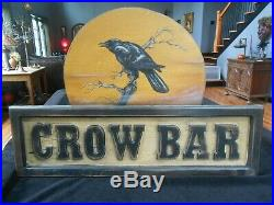 CROW BAR by BONNIE BARRETT of Boardwalk Originals 37 x 25 with 3D Letters RARE