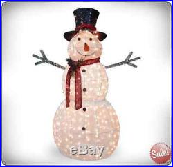 Crystal Snowman Christmas Decoration Xmas Decor Yard Art Garden Outdoor Indoor
