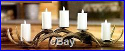 Cabin LODGE 24 Brown ANTLER CANDLE HOLDER 3607018 Raz Imports Christmas NEW