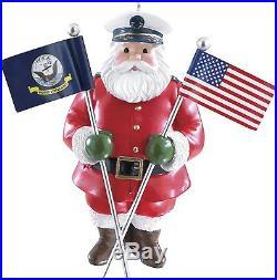 Carlton Heirloom 2014 Navy Santa Ornament