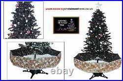 Cascading Snowing Christmas Tree 1.7 M Black Umbrella Base Xmas Tree LED Light