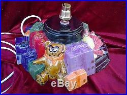 Ceramic christmas tree xxl with toy base lamp handmade beautiful gift