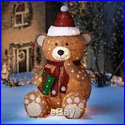 Christmas 65 Large Pop-Up Bear Yard Outdoor Indoor Decoration LED Lights