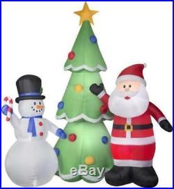 Christmas Air Blown Inflatable Huge 13′ Santa & Snowman with Xmas Tree Yard Decor