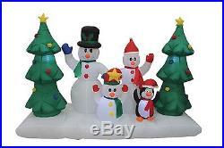 Christmas Air Blown Inflatable Yard Decoration Snowmen Penguin Friend X'mas Tree