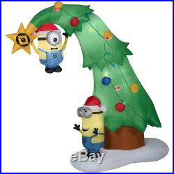 Christmas Airblown Inflatable Minions Decorating A Christmas Tree 6 1/2 ft