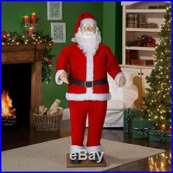 Christmas Animated Santa Life Size Spanish English Speaking Mp3 Sings & Dances